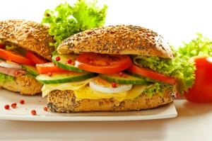 Belegte Vollkornsemmel - Mahlzeit für Glyx Diät