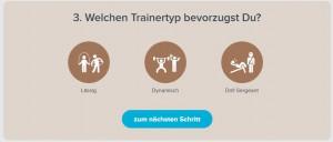Trainertyp auswählen SChritt 3