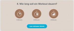 Workout Dauer