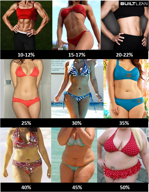 Körperfett-Bilder-Frauen